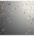 multicolored falling confetti vector image
