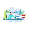 online education or e-learning vector image vector image
