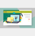 online education web page template distant vector image vector image