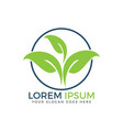 organic green leaf logo design vector image