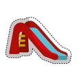 Park slide fun icon vector image