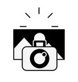 photographic camera taking photo graphic vector image vector image