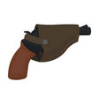 pistol in the holster firearms pistol detective vector image vector image
