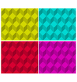 Pixelated cubic seamless background pattern vector image vector image