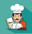 professional chef cartoon vector image vector image