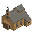 protestant church icon isometric style vector image vector image