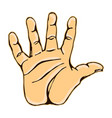realistic high five icon graphic vector image vector image
