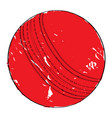 retro cricket ball vector image vector image