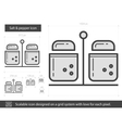 Salt and pepper line icon vector image vector image