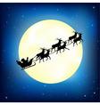 Santa Claus on sleigh vector image
