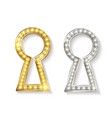 Set of keyholes of metal vector image
