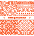 Set of knited Christmas patterns vector image vector image