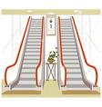 Shopping Mall Escalator vector image