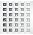 Social icon flag bookmark vector image