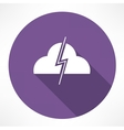 thundercloud icon vector image vector image