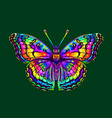 tropical butterfly abstract colorful hand-drawn vector image vector image