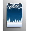Vertical Poster Snow Falling Garland Christmas vector image vector image