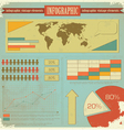vintage infographics vector image