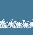 white snow border vector image
