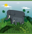 wild animals in the jungle scene vector image
