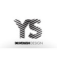 ys y s lines letter design with creative elegant vector image vector image