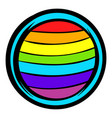 lgbt colors on button shape icon icon cartoon vector image