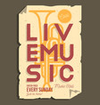live music typographic promotion information vector image