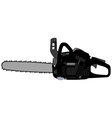 Black realistic chainsaw vector image