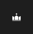 King crown mockup logo design success royal icon vector image