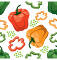 seamless vegetable background with red green and vector image