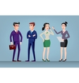 Men and women in office wear full length vector image