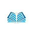 open book logo education vector image