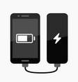 phone power bank charging vector image