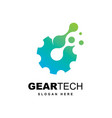 abstract technology symbol logo design vector image vector image