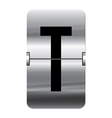 Alphabet silver flipboard letters t