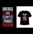american typography t-shirt design vector image vector image
