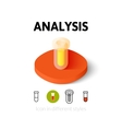 Analysis icon in different style vector image