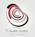 Audio studio business icon vector image vector image