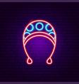 baby hat neon sign vector image