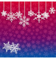 background with hanging snowflakes vector image vector image