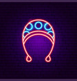 bahat neon sign vector image vector image