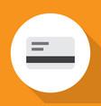 bank card icon flat symbol premium quality vector image vector image