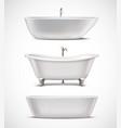 Bathtubs Realistic Set vector image vector image