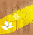 big autumn sale autumnal maple leaf on a wooden vector image vector image