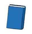 blue book close learn literature knowledge vector image vector image