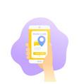 book a cab app design vector image