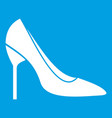 Bride shoes icon white vector image