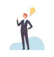businessman having good idea brainstorming vector image vector image