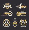 car logo stylized emblem with car silhouettes vector image vector image