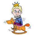 cartoon image of idiot prince vector image vector image